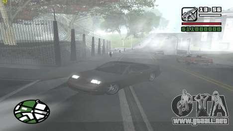 Weather Menu para GTA San Andreas quinta pantalla