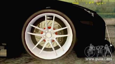 Lexus LFA Street Edition Djarum Black para GTA San Andreas vista posterior izquierda