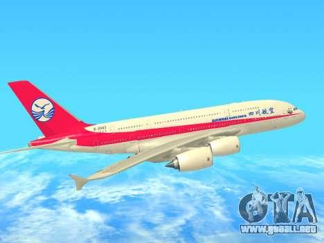 Airbus  A380-800 Sichuan Airlines para visión interna GTA San Andreas