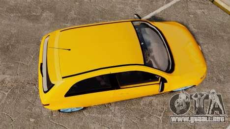 Volkswagen Gol G5 3 Puertas para GTA 4 visión correcta