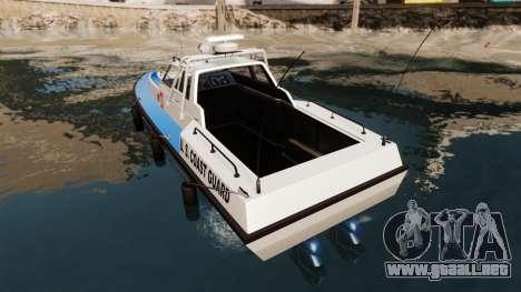 Predator U.S. Coast Guard para GTA 4 Vista posterior izquierda