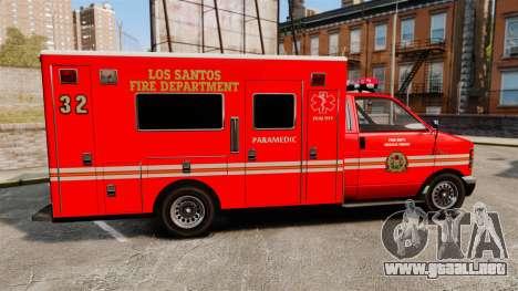 Brute LSFD Paramedic para GTA 4 left