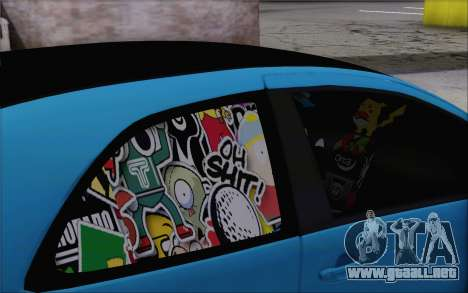 Toyota Yaris Hellaflush Young Child para la visión correcta GTA San Andreas