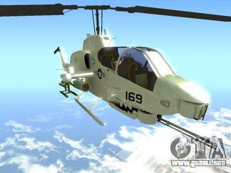 AH-1W Super Cobra para la visión correcta GTA San Andreas