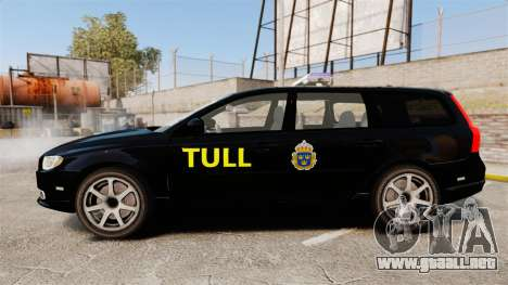 Volvo V70 Swedish TULL [ELS] para GTA 4 left