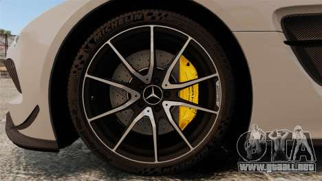 Mercedes-Benz SLS 2014 AMG NFS Stripes para GTA 4 vista hacia atrás