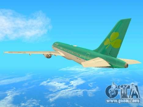 Airbus A320-200 Aer Lingus para GTA San Andreas vista hacia atrás