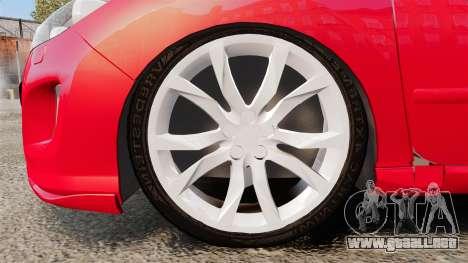 Peugeot 308 CC para GTA 4 vista hacia atrás