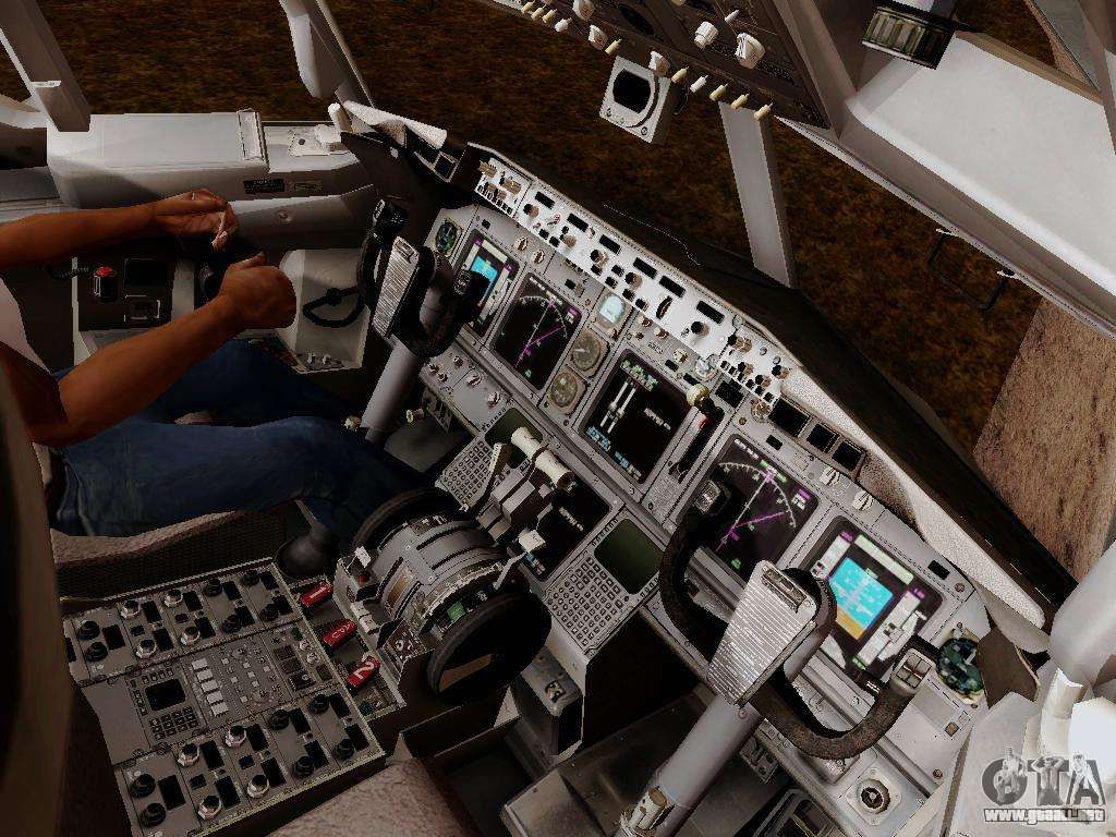 Boeing 737800 Air Algerie para GTA San Andreas interior | Painting ...