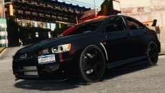 Mitsubishi Lancer Evolution X 2008 Black Edition para GTA 4