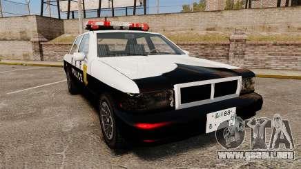 GTA SA Japanese Police Cruiser [ELS] para GTA 4