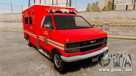 Brute LSFD Paramedic para GTA 4