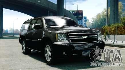 Chevrolet Suburban 2008 FBI [ELS] para GTA 4