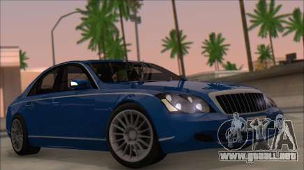 Maybach 57 TT Negro Revel седан para GTA San Andreas