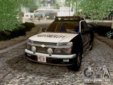 Chevrolet Colorado Sheriff para vista lateral GTA San Andreas