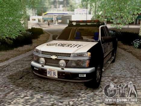 Chevrolet Colorado Sheriff para vista lateral GTA San Andreas