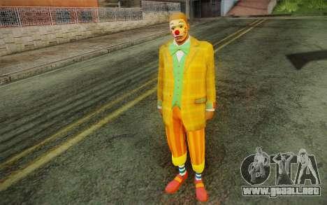 El payaso de GTA 5 para GTA San Andreas segunda pantalla