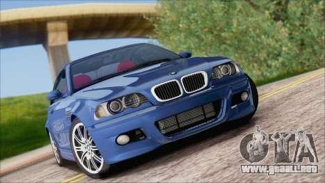 BMW M3 E46 2002 para GTA San Andreas vista hacia atrás