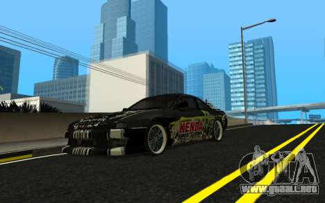 Nissan Silvia S14 Monster Energy KENDA Tire para visión interna GTA San Andreas