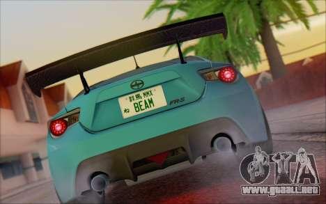 Scion FR-S 2013 Beam para la visión correcta GTA San Andreas
