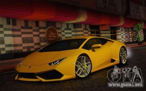 Lamborghini Huracan 2013 para GTA San Andreas left