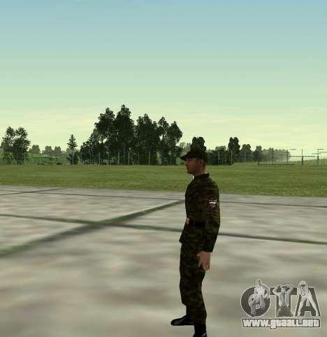 Combatiente del Ejército ruso v 2.0 para GTA San Andreas segunda pantalla