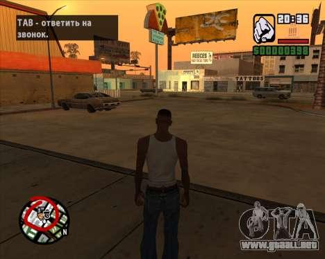 Iconos de radar de la versión móvil del juego para GTA San Andreas tercera pantalla