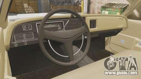 Dodge Monaco 1974 para GTA 4 vista hacia atrás