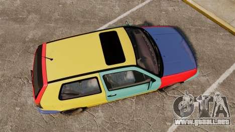 Volkswagen Golf MK3 Harlequin para GTA 4 visión correcta