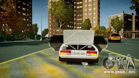 VAZ 2107 para GTA 4 vista desde abajo