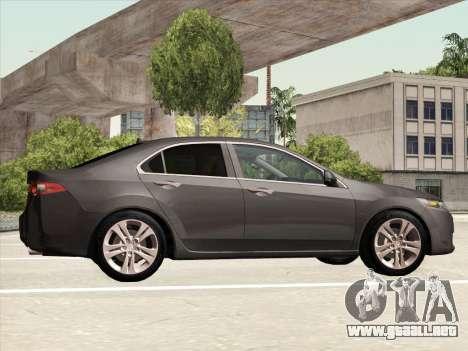 Honda Accord 2009 para visión interna GTA San Andreas