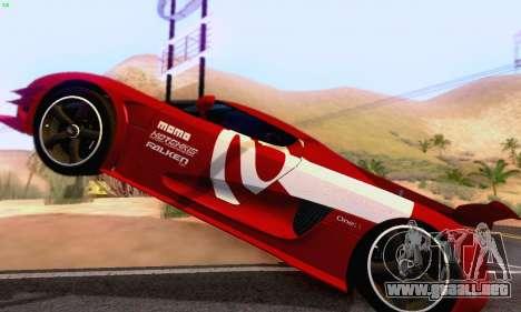 Koenigsegg One 2014 para visión interna GTA San Andreas