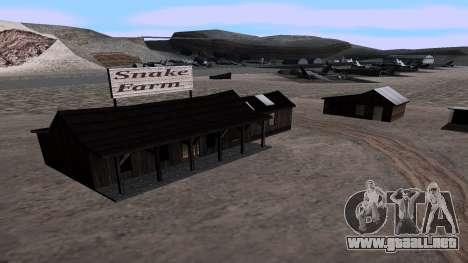Actualizado granja de serpientes para GTA San Andreas segunda pantalla
