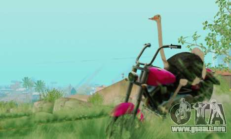Ostrich From Goat Simulator para GTA San Andreas sexta pantalla