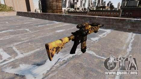 Automatic rifle Colt M4A1 Caída Camuflaje para GTA 4 segundos de pantalla