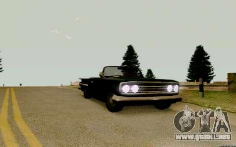 Voodoo Convertible (versión con faros) para la visión correcta GTA San Andreas