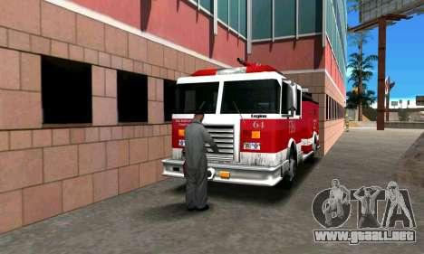 Realista de la estación de bomberos de Los Santo para GTA San Andreas tercera pantalla