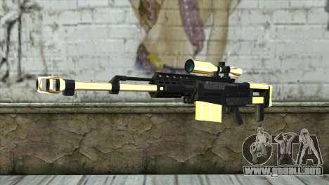 Golden Sniper Rifle para GTA San Andreas