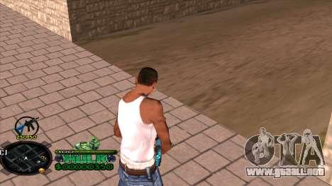 C-HUD Hulk para GTA San Andreas tercera pantalla