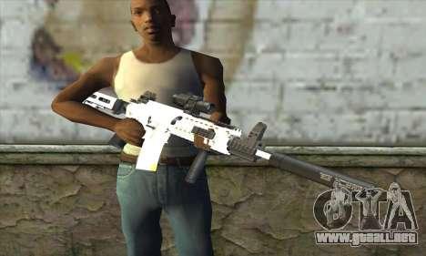 Golden M4A1 para GTA San Andreas tercera pantalla