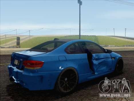 BMW M3 E92 2008 para GTA San Andreas interior