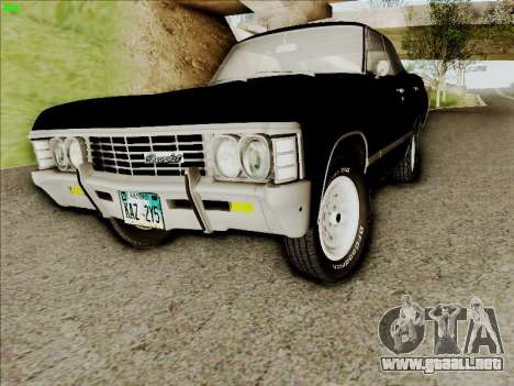 Chevrolet Impala SS 1967 Hardtop Sedan 396 para GTA San Andreas left