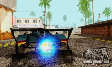 Pagani Zonda Type R Black para GTA San Andreas vista hacia atrás