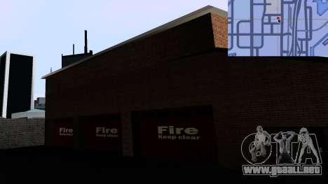 Updated San Fierro Fire Dept para GTA San Andreas sucesivamente de pantalla