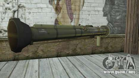 AT4 Rocket Launcher para GTA San Andreas segunda pantalla