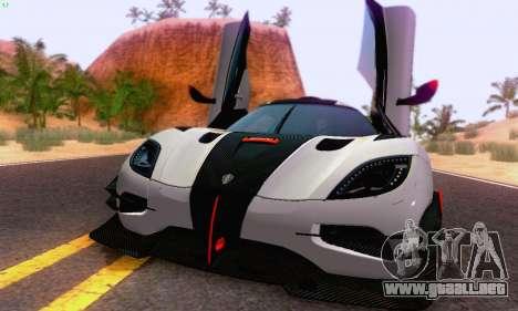 Koenigsegg One 2014 para GTA San Andreas left