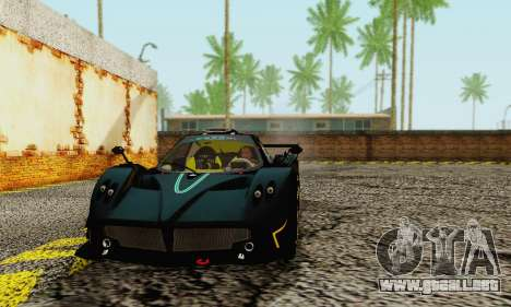 Pagani Zonda Type R Black para GTA San Andreas left