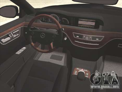 Mercedes-Benz S65 AMG para GTA San Andreas interior