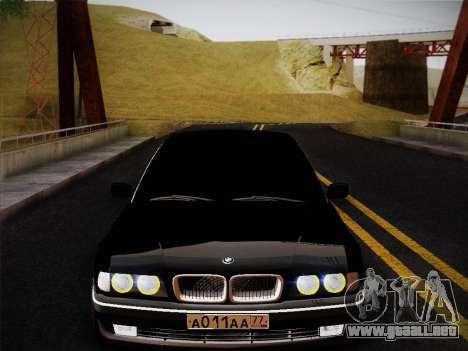 BMW 730d E38 1999 para la visión correcta GTA San Andreas