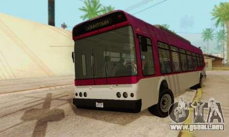 El Autobús de transporte из GTA 5 para GTA San Andreas vista posterior izquierda